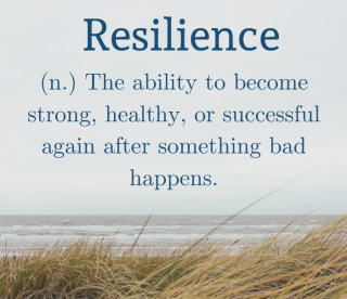 Resilience beach background